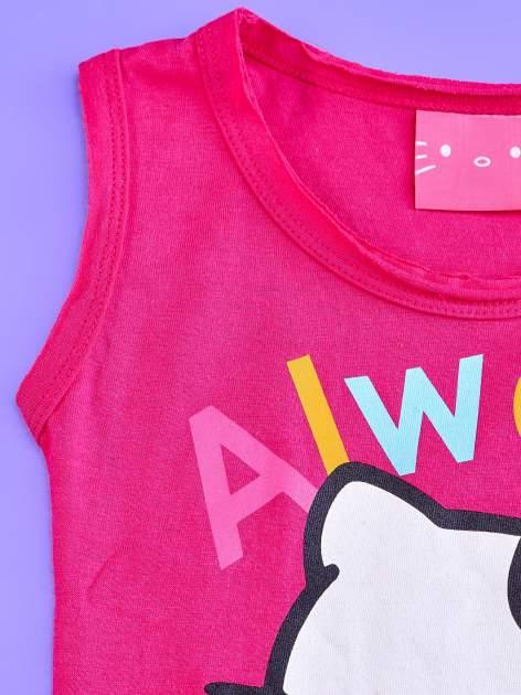 Fuksjowa sukienka dla dziewczynki z kokardkami HELLO KITTY                                  zdj.                                  3