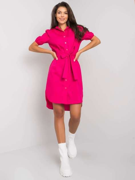 Fuksjowa sukienka rozpinana Yuval