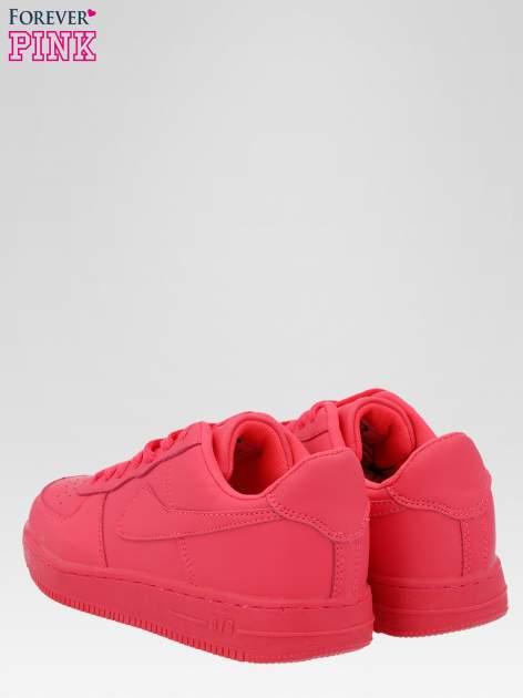 Fuksjowe buty sportowe na grubej podeszwie                                  zdj.                                  3
