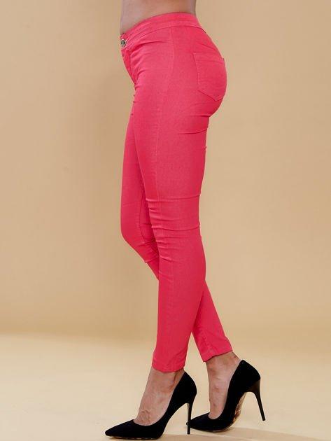 Fuksjowe spodnie rurki skinny                                  zdj.                                  5