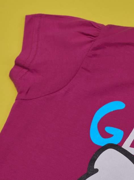 Fuksjowy t-shirt dla dziewczynki HELLO KITTY                                  zdj.                                  5