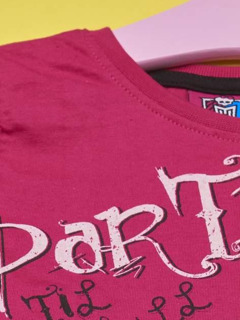 Fuksjowy t-shirt dla dziewczynki MONSTER HIGH                                  zdj.                                  3
