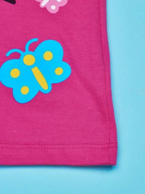Fuksjowy t-shirt dla dziewczynki nadruk HELLO KITTY                                  zdj.                                  5