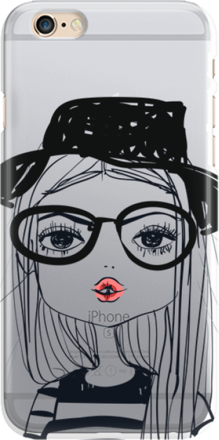 Funny Case ETUI IPHONE 6G GIRL WITH PINK LIPS