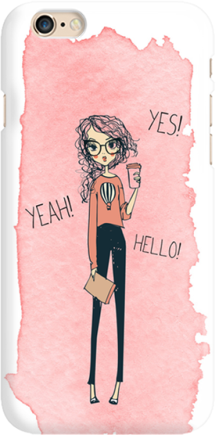 Funny Case ETUI IPHONE 6G YES, YEAH, HELLO
