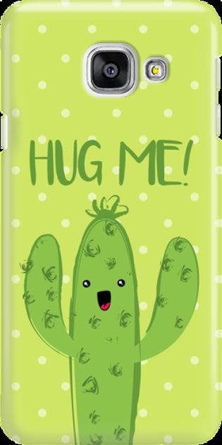 Funny Case ETUI SAMSUNG A3 2016 CACTUS HUG ME