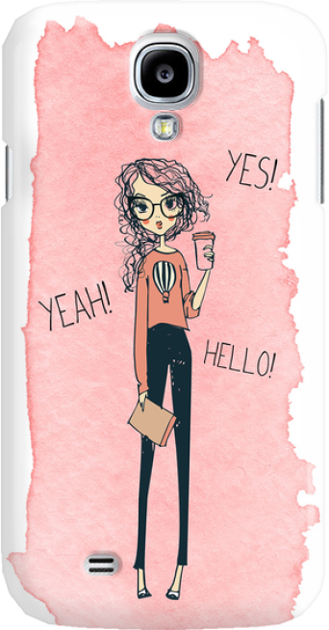 Funny Case ETUI SAMSUNG S4 YES, YEAH, HELLO