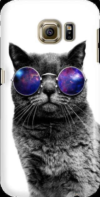 Funny Case ETUI SAMSUNG S6 CAT