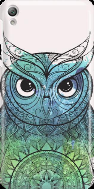 Funny Case ETUI SONY XPERIA E5 OWL