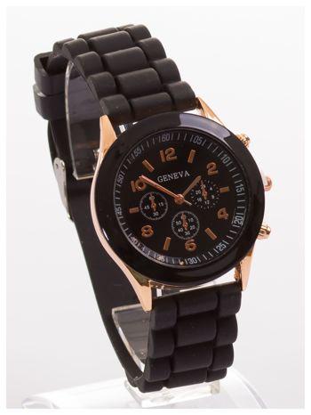 GENEVA Czarny zegarek damski na silikonowym pasku                                  zdj.                                  3