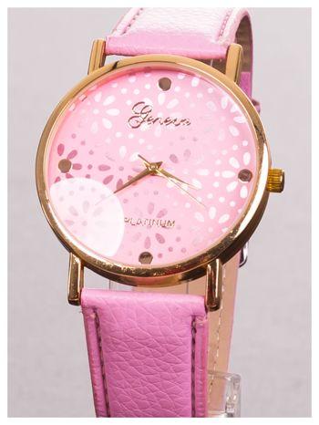 GENEVA Damski zegarek z ażurową tarczą