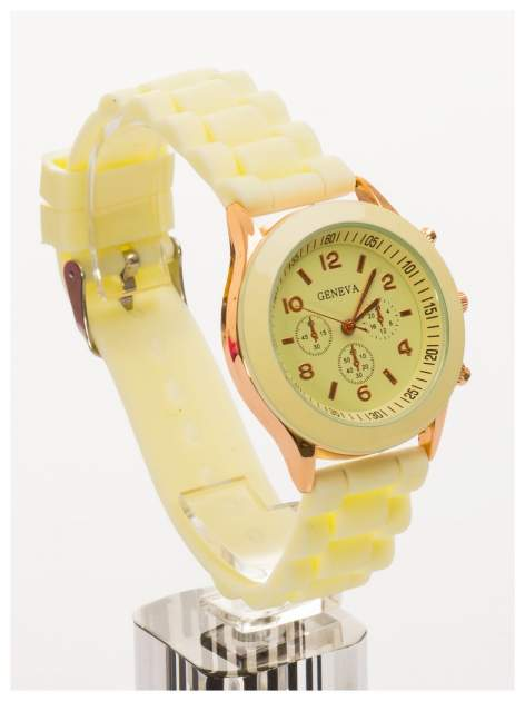 GENEVA Ecru zegarek damski na silikonowym pasku                                  zdj.                                  2