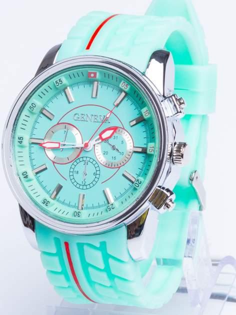 GENEVA Miętowy zegarek męski MILITARY