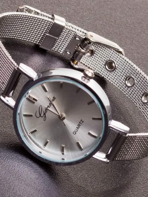GENEVA Srebrny prosty zegarek damski na bransolecie                                  zdj.                                  1