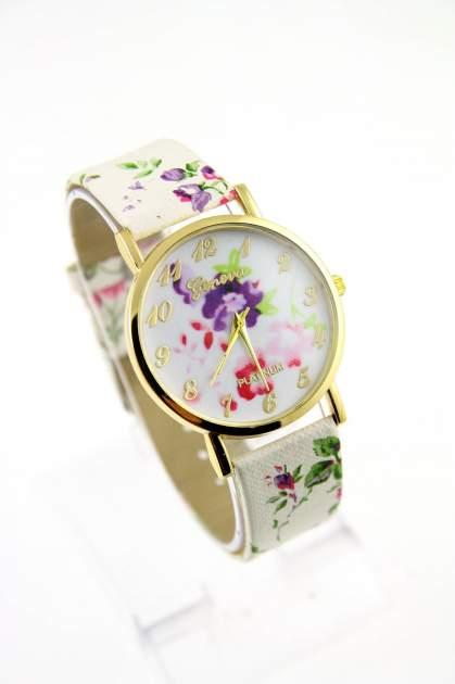 GENEVA Wielokolorowy zegarek damski w stylu retro na skórzanym pasku                                  zdj.                                  1