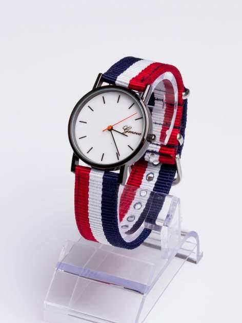 GENEVA Zegarek unisex z modnym materiałowym kolorowym paskiem                                  zdj.                                  2