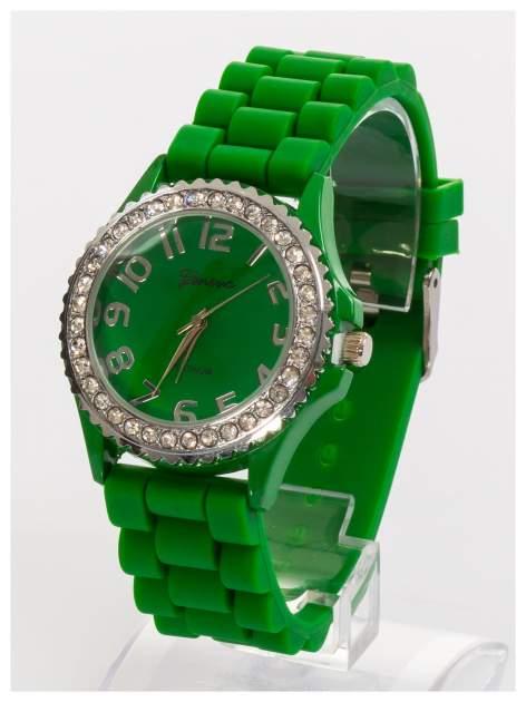 GENEVA Zielony zegarek damski na silikonowym pasku                                  zdj.                                  3