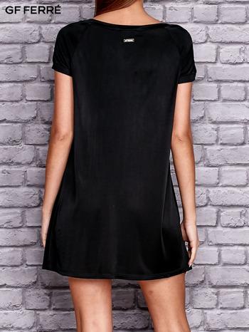 GF FERRE Czarna sukienka z kontrastową wstawką                              zdj.                              3