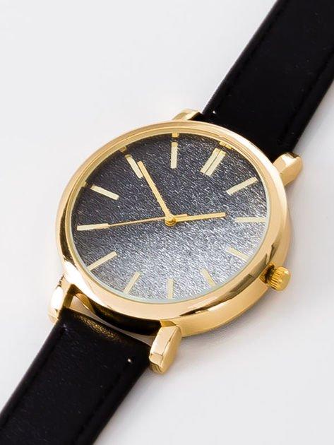 GLITTER OMBRE czarny zegarek damski                              zdj.                              2