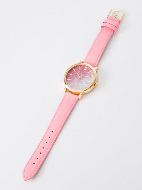 GLITTER OMBRE różowy zegarek damski                              zdj.                              3