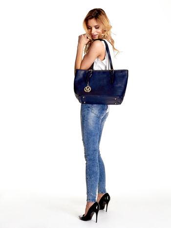 Ganatowa torba shopper bag z regulowanymi rączkami                                  zdj.                                  6