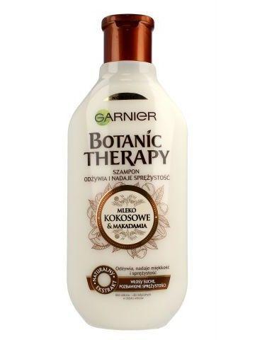 Garnier Botanic Therapy Szampon do włosów suchych i bez sprężystości Mleko Kokosowe & Makadamia  250 ml