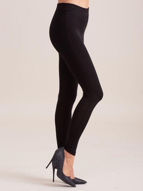 Gładkie czarne legginsy damskie                              zdj.                              3