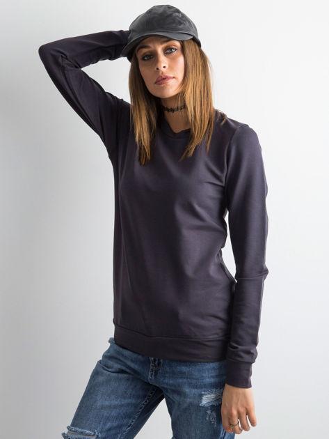 Grafitowa bluza damska basic                              zdj.                              1