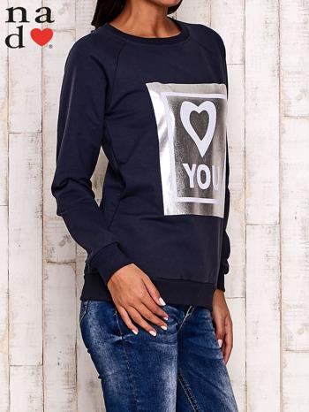 Grafitowa bluza z błyszczącym nadrukiem                                  zdj.                                  3