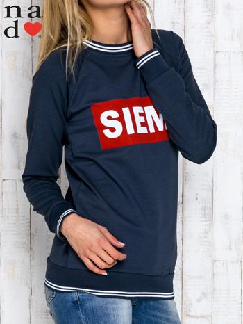 Grafitowa bluza z napisem SIEMA                                  zdj.                                  3