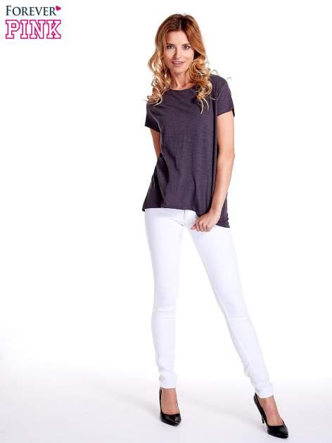 Grafitowy jednolity t-shirt                                  zdj.                                  6