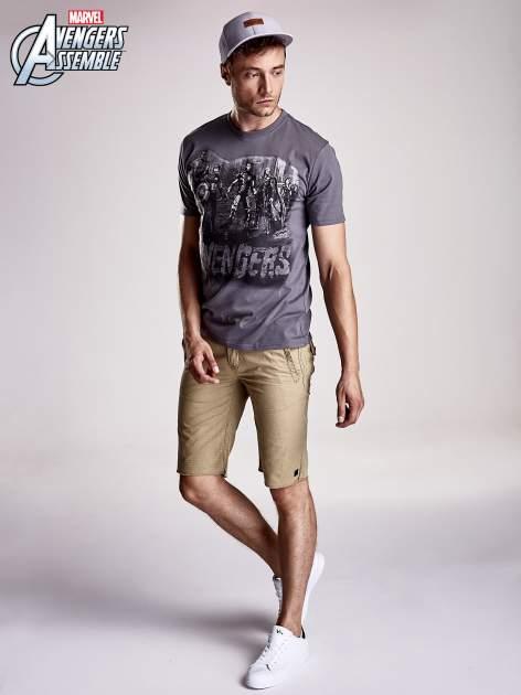 Grafitowy t-shirt męski AVENGERS                                  zdj.                                  4