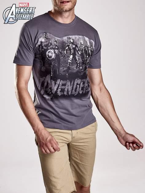 Grafitowy t-shirt męski AVENGERS                                  zdj.                                  5