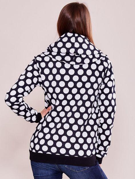 Granatowa bluza w grochy                              zdj.                              2