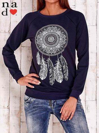 Granatowa bluza z łapaczem snów                                  zdj.                                  1