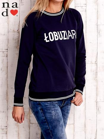 Granatowa bluza z napisem ŁOBUZIARA                                  zdj.                                  3