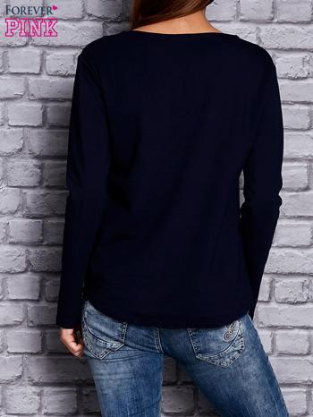 Granatowa bluza z sercem                                  zdj.                                  4