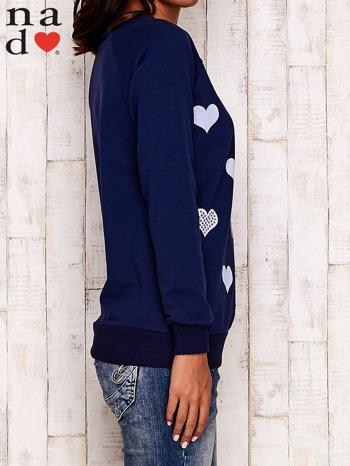 Granatowa bluza z serduszkami                                  zdj.                                  3