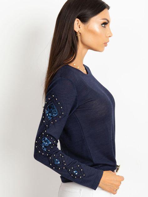 Granatowa bluzka Stella                              zdj.                              5