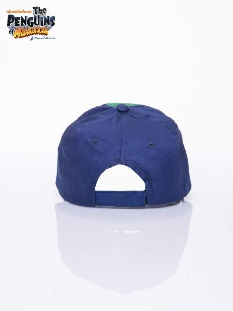 Granatowa chłopięca czapka z daszkiem PINGWINY Z MADAGASKARU                                  zdj.                                  3
