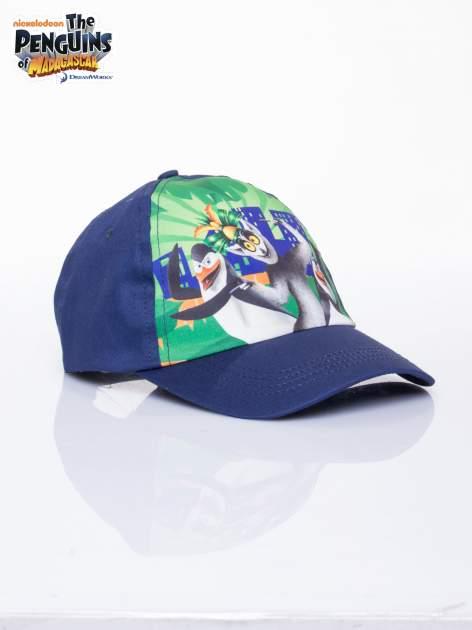 Granatowa chłopięca czapka z daszkiem PINGWINY Z MADAGASKARU                                  zdj.                                  2