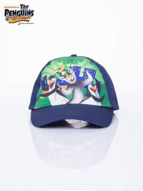 Granatowa chłopięca czapka z daszkiem PINGWINY Z MADAGASKARU                                  zdj.                                  1