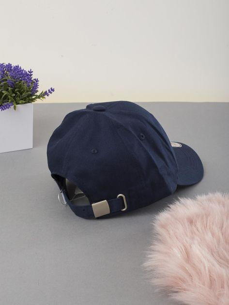 Granatowa czapka z daszkiem                              zdj.                              2