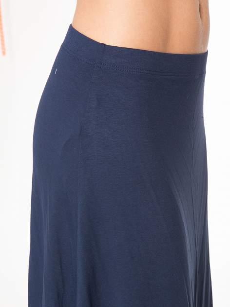 Granatowa długa spódnica maxi na gumkę                                  zdj.                                  7