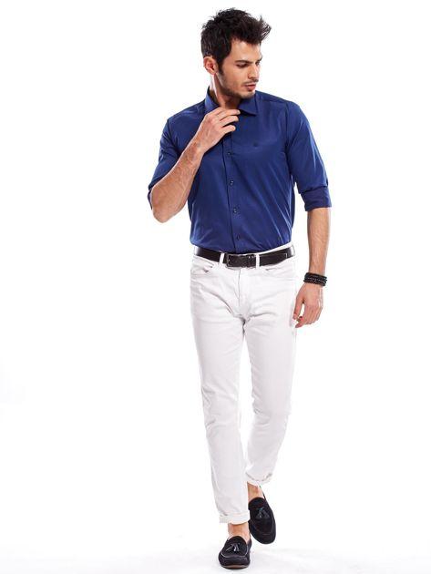 Granatowa koszula męska                               zdj.                              5