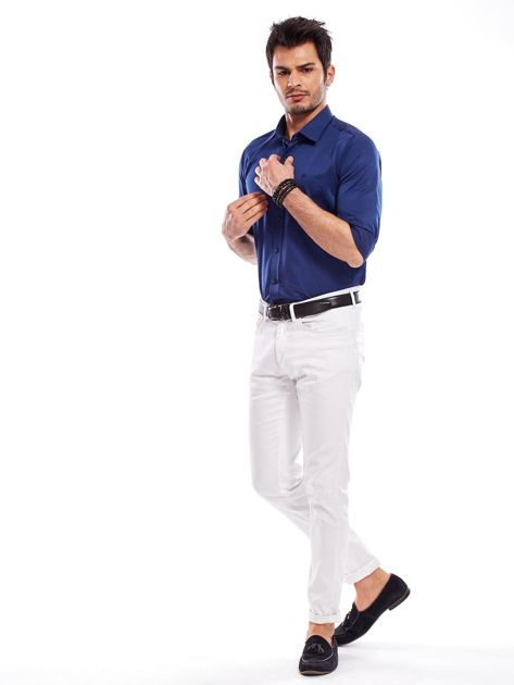 Granatowa koszula męska                               zdj.                              10