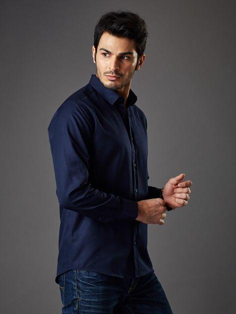 Granatowa koszula męska regular fit                              zdj.                              6