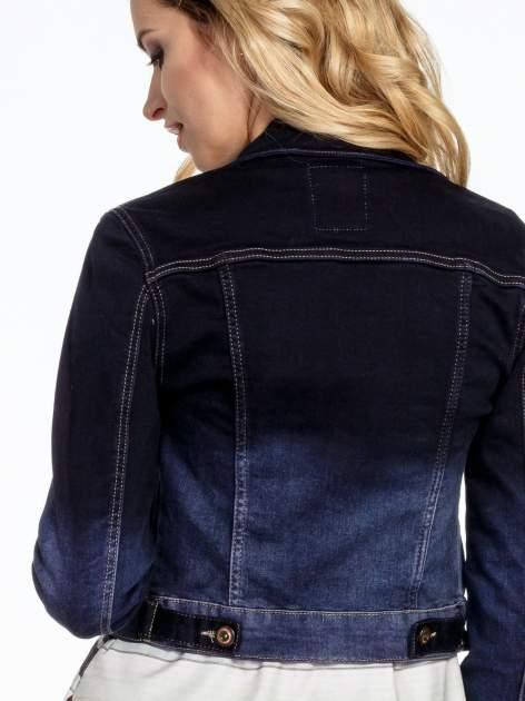 Granatowa kurtka jeansowa z efektem ombre                                  zdj.                                  7