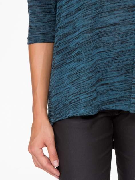 Granatowa melanżowa bluzka o obniżonej linii ramion                                  zdj.                                  7