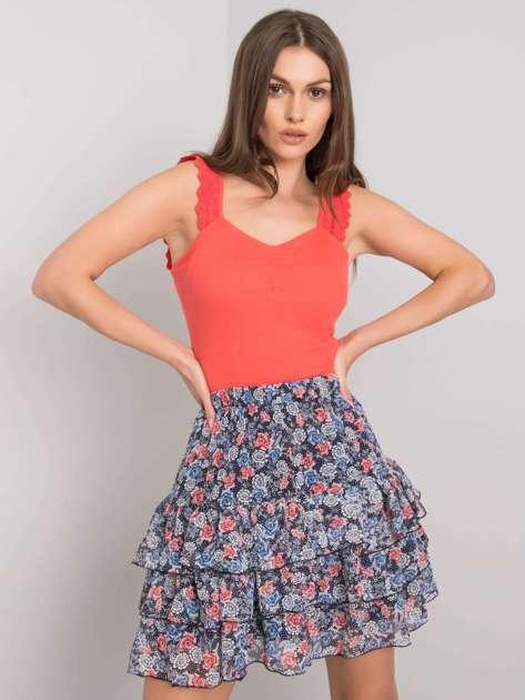 Granatowa spódnica w kwiaty Randisha